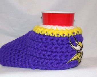 Ready to ship - Minnesota Vikings Drink Mitt  - The mitten with the drink holder
