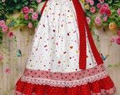 Valentine's Day Girls Dress 3T/4T Red, White Hearts, Dots, Butterfly kisses, Love Bugs Pillowcase Dress, Pillow Case Dress, Sundress