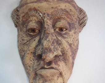 Grumpy Old Man Ceramic Mask