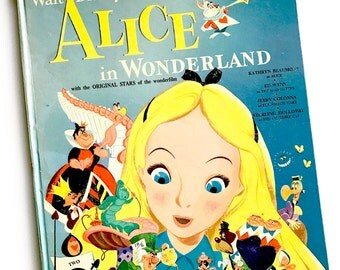 Vintage Childrens Book Alice in Wonderland Little Nipper Book 1951 - Oversized