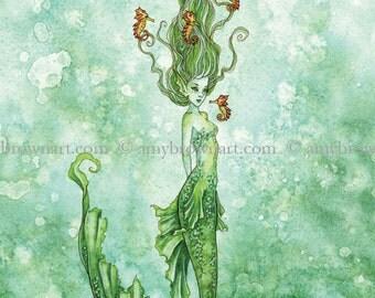 LAST ONES 5x7 mermaid PRINT by Amy Brown