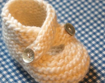 PATTERN - Baby Booties Knitting Pattern Knit Stitch Only Three Sizes Easy