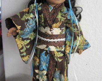 3 Piece KIMONO fits 18 inch dolls like American girl