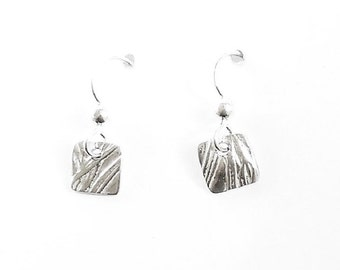 Sterling rosemary earrings, botanical jewelry, herb accessories, leaf replicas
