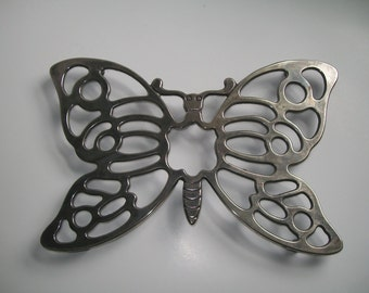 Silverplate Butterfly Trivet by Leonard