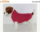 HALF PRICE SALE Chunky Garter Stitch Dog Coat knitting pattern by madmonkeyknits - instant digital pdf download knitting pattern