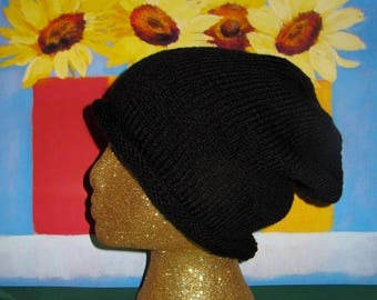 50% OFF SALE Digital pdf file Knitting Pattern- Roll Brim Super Slouch knitting pattern pdf download by madmonkeyknits
