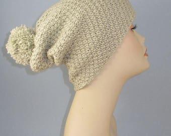 50% OFF SALE Instant Digital pdf download madmonkeyknits - Chunky Big Bobble Double Moss Stitch Slouch Hat pdf knitting pattern