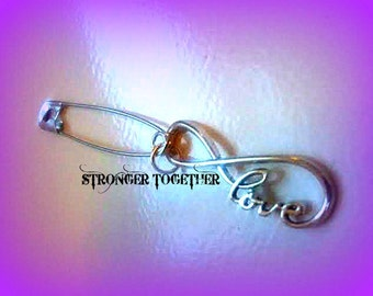 Safety Pin Jewelry,Womens March,Stand Up America,Together We Stand,Stronger Together,Womans Strike,Safe Place,Love Trumps Hate,Nasty Woman
