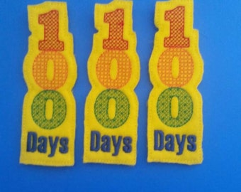 100 Days Celebration Felt Bookmark - Celebrate 100 Days of School - Non Food Treat - Allergy Class Treat