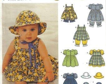 Simplicity 9784 Babies' Dress, Jumper, Sundress and Hat  Size XS - L by Karen Z  New - Uncut
