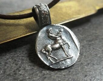 Mythology Jewelry Centaur Chiron Silver Pendant