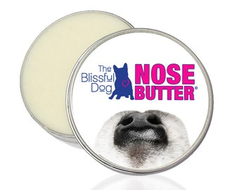 The ORIGINAL Dog NOSE BUTTER® All Natural Handcrafted Moisturizing Balm for Crusty Cracked Dry Dog Noses 1 oz. Tin with Just A Nose Label