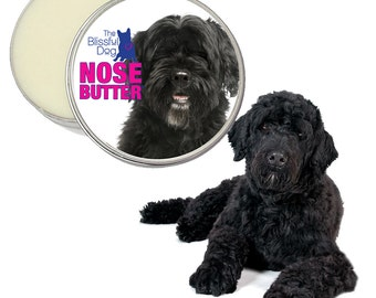 Portuguese Water Dog ORIGINAL NOSE BUTTER® Individually Handcrafted All Natural Balm for Dry Crusty Dog Noses Choice: 1 oz, 2 oz or 4 oz Tin