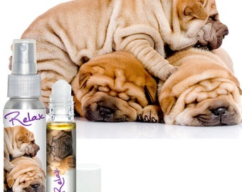 Chinese Shar-Pei Dog RELAX Aromatherapy Takes the Edge Off Stress & Anxiety, Fear of Thunder, Fireworks in Dogs Calming Essential Oils