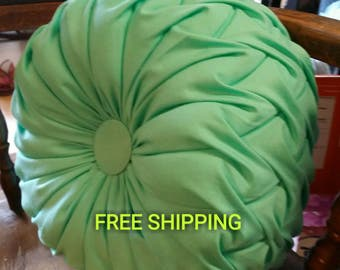 Smocked pillow. FREE SHIPPING