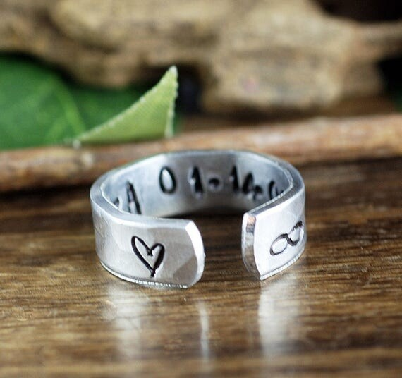 Anniversary Ring, Infinity Ring, Secret Message Ring, Gift for Wife, Girlfriend Ring, Personalized Ring, Wedding Ring, Gift for Bride