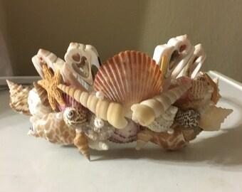 Mermaid Crown Seashell Head Band  Bride Bridesmaid Hair Tiara Sea Shell