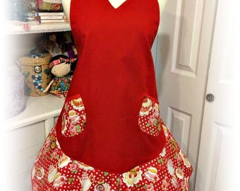 Handmade Woman's apron Tea Shoppe themed Mother's Day, birthdays, housewarming, Bridal Showers,Graduations
