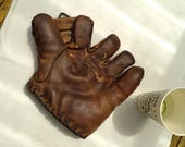 Antique Baseball Mitt