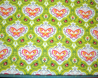 Oops a Daisy Butterfly in Green - Keiki - Moda - 1 Yard or More - SKU# 32484-14