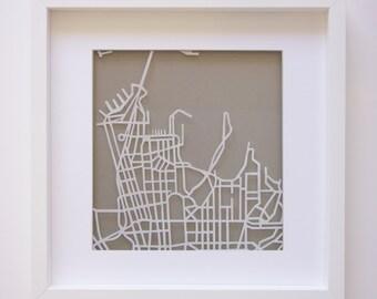 Sydney paper cut map