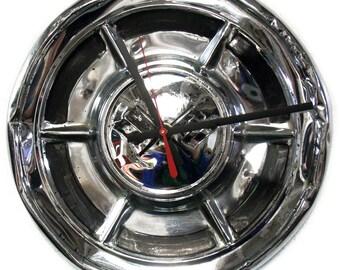 1960 1962 Chevy Corvette Clock Chevrolet Vette Hubcap 1961 Hub Cap Wall Decor