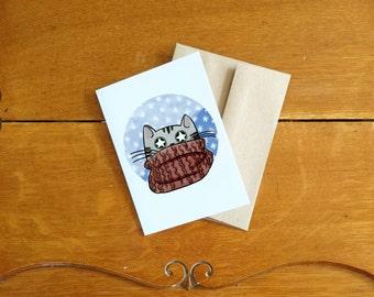 Scarf Cat card