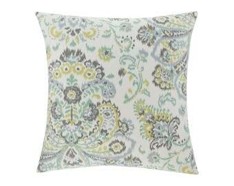 TEAL Pillow Cover.Decorator Pillow Cover.Home Decor.Large Print. PROVENCE MIST. Cushions. Cushion.Pillow. Premier Prints