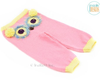 Cute Pink Owl Knit Pants for 2T -  Ready to Ship