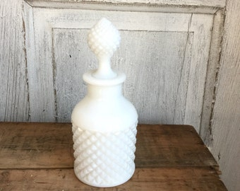 Vintage Milk Glass Oil l/vinegar Decanter