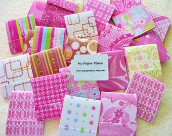 100 -  Matchbook Note Pads- Pretty In Pink - Assortment  - 12 sheets- PRIORITY SHIPPING