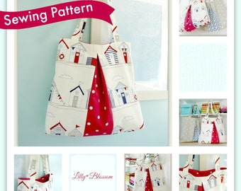 Pleated Tote Bag sewing pattern