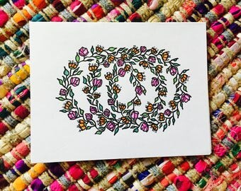 Floral Wreath Card (blank)