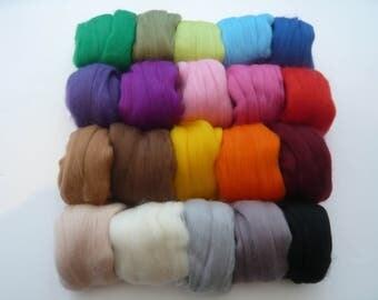 Heidifeathers Merino Wool 'Variety Mix' - 20 Colours 300g / 10.5oz