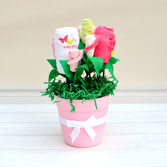 Baby Shower Gift, Baby Girl Gift, Baby Flower Bouquet, Baby Girl Clothes, Corporate Baby Shower, Office Baby Gift, Push Present, Baby Gifts