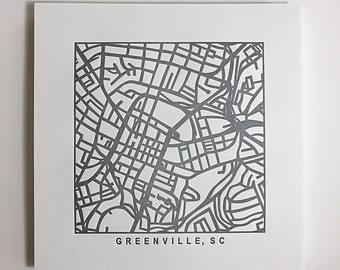 Greenville, SC or Charleston, SC pressed prints