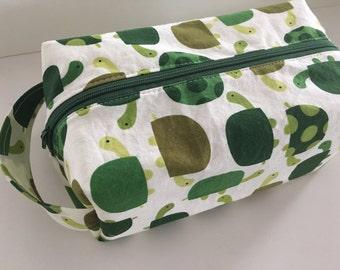 Kid Toiletry Bag, Kids Toiletry Bag, Vacation, Toiletry, Travel Bag - Turtles