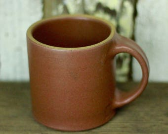 Earth Tone Coffee Mug / Tea Cup / Hot Chocolate Mug / 14 Ounce Mug / Reddish Brown Mug