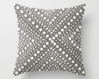 OUTDOOR Throw Pillow - Mud warm gray and White Outdoor Pillow - Modern Geometric Patio Cushion - Outdoor Pillow 16 18 20 inch
