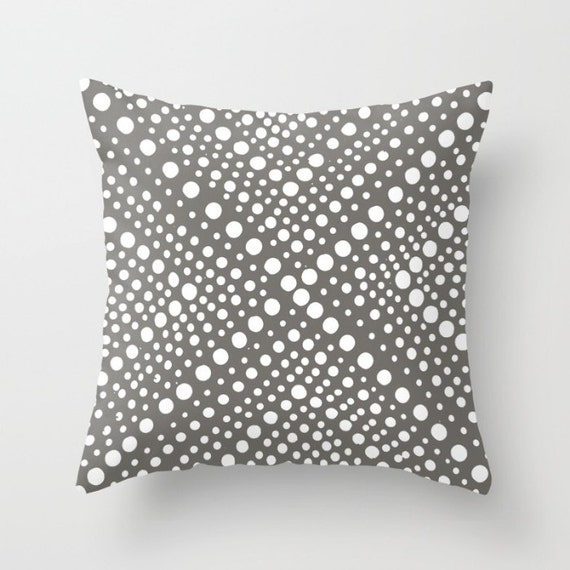 OUTDOOR Throw Pillow . Mud warm gray and White Outdoor Pillow . Modern Geometric Patio Cushion . Outdoor Pillow 16 18 20 inch . Lumbar