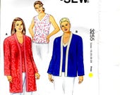 Women's Jackets Top Scoop Neck Blouse Full Length Sleeve No Closure Edge Band Neck Plus Sizes 1X 2X 3X 4X Kwik Sew 3255 Craft Sewing Pattern