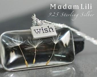 925 Sterling Silver Original Dandelion Necklace