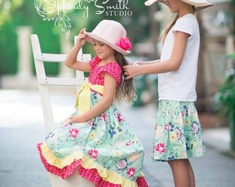 ON SALE! Meadow Melodies (coordinating line) mommy or me twirl skirt, size newborn- ladies