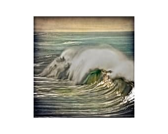 """6x6 Resin on Wood Board. """" Vintage Winter Swell"""""""