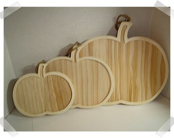 Wooden Pumpkin Frame Ornament- Unfinished/ 3 Sizes/ Single OR Set of 3/ Holiday/ Craft Supplies*