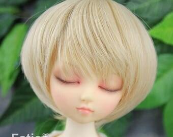 Fatiao - New Dollfie MSD Kaye Wiggs 1/4 BJD Size 7-8 inch Dolls Wig - Linen gold