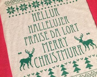 Hellur Madea Inspired Christmas Shirt