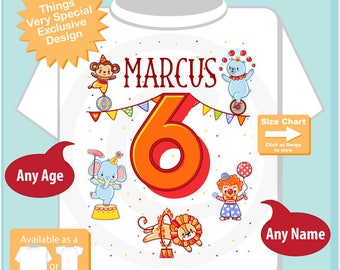 Circus 6th Birthday Shirt, Circus Themed 6th Birthday Shirt, Circus Sixth Birthday shirt for Circus Themed Birthday Party 04142017d