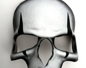 ON SALE Harlequin Skull Leather Mask